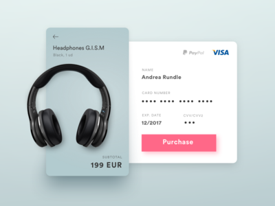DailyUI #002 Credit Card Checkout purchase ui checkout 002 dailyui