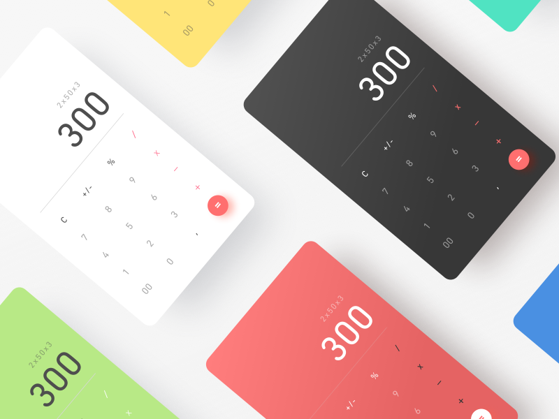DailyUI #004 Calculator