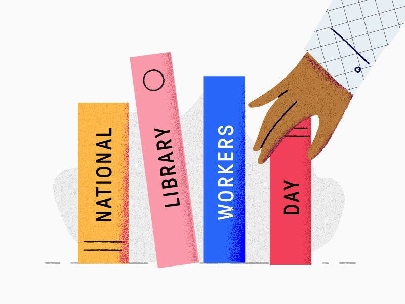 National Library Workers Day edpuzzle illustration books library