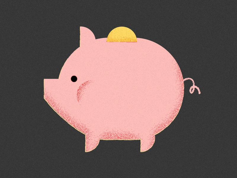 Black Friday Tip: Buy nothing and save 100% of your money. savings money piggy bank pig design texture editorial grain vector illustration