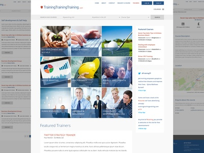 Website design for a training company