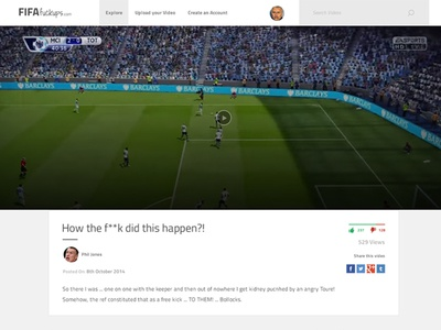 Video playback page for fifafuckups.com