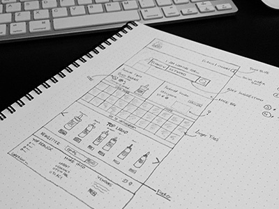 Wireframe for my new project