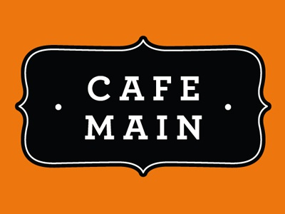 Cafe Main vector illustration archer coffee local