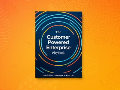 The Customer Powered Enterprise Playbook book cover design book cover ebook gradient pattern vector illustration