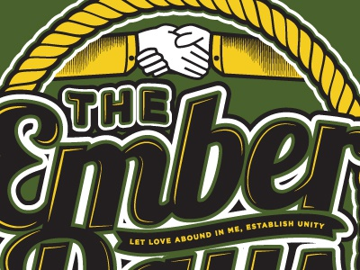 The Ember Days rope illustration hands illustrator cursive type treatement shading