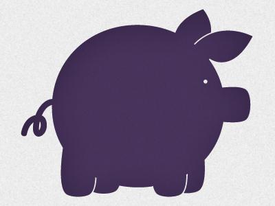 The Purple Pig illustration vector purple pig luke18