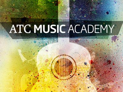 ATC Music Academy music guitar texture paint splatter color vector collage