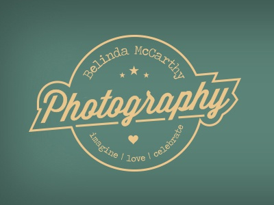 Belinda McCarthy Photography Logo logo design photography photographer 50s retro