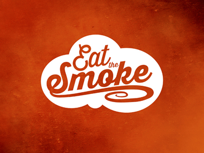 Eat The Smoke - Logo Design logo design brand identity bbq americana