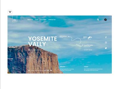 Yosemite ⛰️ website concept website design app ux app ui webdesign app website icon web design web ux ui illustration design branding