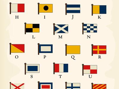 International Code Of Signals flags marine colors signals code viejo lobo mar sea