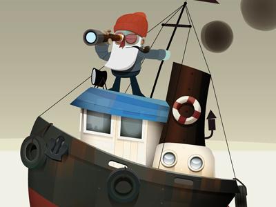 Searching viejo lobo captain sailor marine sea boat