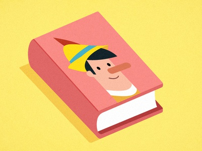 Pinocchio Book twitter book vector pinocchio infography minimal