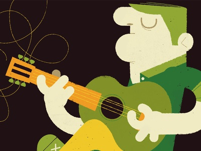 Change Your Strings  illustration instrument strings music rock player guitar