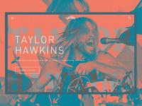 Taylor Hawkins - Landing page
