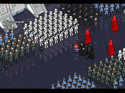 The arrival to the Deathstar (100% Remastered) iso pixel pixelart starwars mario