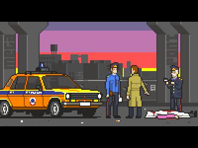 Crime scene ussr police crime 2d pixelart pixel