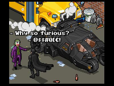 A bad day for Batman pixel pixelart 8-bit fanart batman illustration iso isometric