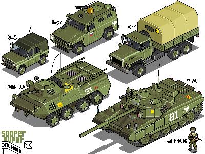 Russian warfare iso pixelart isometric pixel