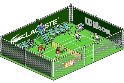 Tennis game iso pixelart pixel isometric