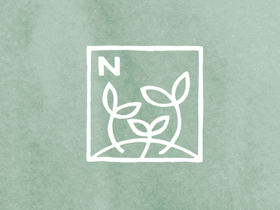 Nourish sprouts mark leaf grow nourish plant garden sprout logo