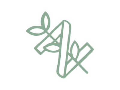 Nourish N Sprout plant grow branding vector n sprout icon mark logo nourish