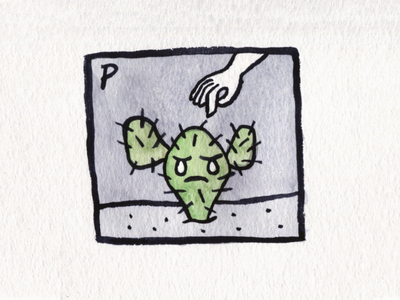 25. Prickly prickly cactus brush icon conceptual illustration design austin inktober2018 inktober