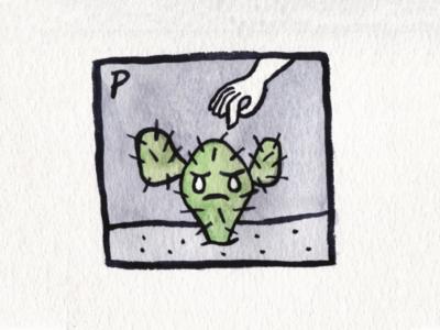 25. Prickly prickly cactus brush icon conceptual illustration design austin inktober2018 inktober