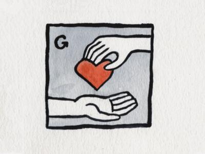 28. Gift gift heart brush icon conceptual illustration design austin inktober2018 inktober
