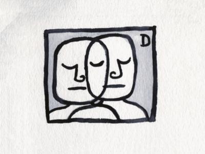 29. Double twins double brush icon conceptual illustration design austin inktober2018 inktober