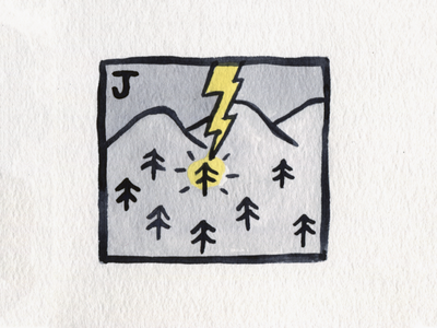30. Jolt lightning jolt brush icon conceptual illustration design austin inktober2018 inktober