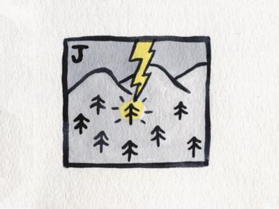 30. Jolt lightning jolt brush icon conceptual illustration design austin inktober2018 inktober