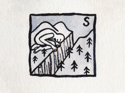 31. Slice canyon slice brush icon conceptual illustration design austin inktober2018 inktober