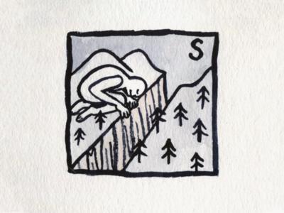 31. Slice canyon slice brush icon conceptual illustration design austin inktober2018 inktober