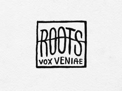 Roots logo halo ink illustration lettering wordmark logo roots mark