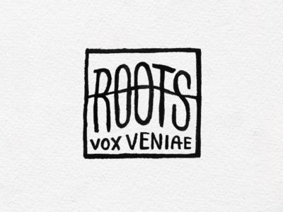 Roots logo halo ink illustration lettering wordmark logo roots mark