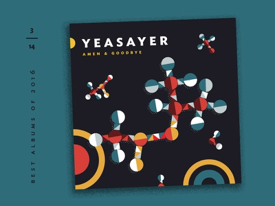 Best Albums of 2016 - 3 | Yeasayer molecules chemisty album covers illustration countdown