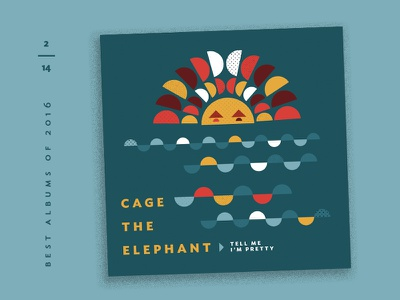 Best Albums of 2016 - 2 | Cage the Elephant waves sun album covers illustration countdown