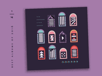 Best Albums of 2016 - 1 | Thrice pattern window album covers illustration countdown