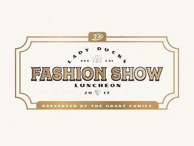 Fashion Show Branding fancy retro diamonds gold champagne fashion