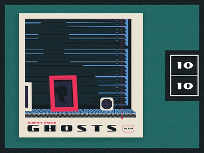 2017 - Top 10 Album Countdown  |  10/10 window clock silhouette ghosts illustration albumart album