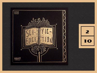 Top Albums 2017 - 2|10 science fire gold pen  ink handdraw illustration albumart album