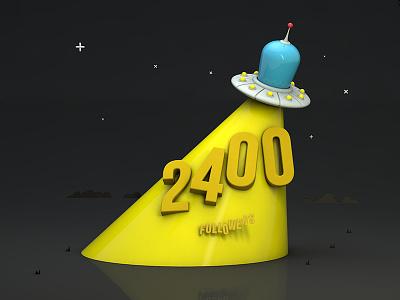 UFO in 3d 3d ufo milestone indicius followers 2400