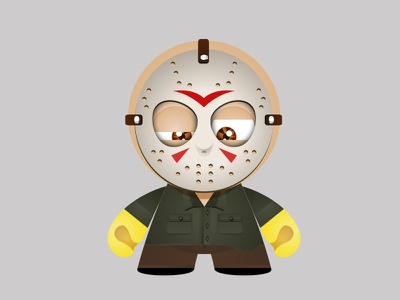 Horror movies from the 80s - Jason Voorhees illustration terror 13 friday voorhees jason 80s movies horror