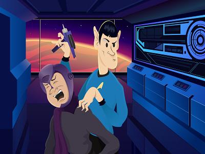 Spock retro tv show startrek spock movies character illustration