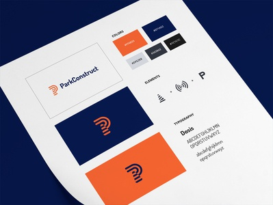 ParkConstruct Overview overview guidelines brand identity brand identity design clean branding minimal logo flat