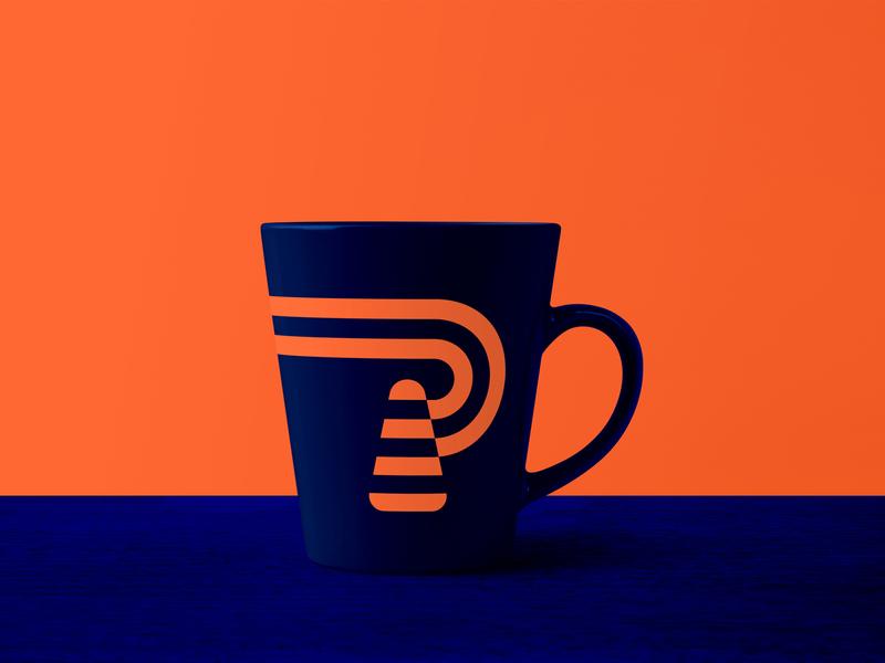 ParkConstruct Mug Design clean brand identity design mockup mug mockup mug branding minimal logo flat