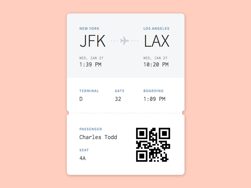 Boarding Pass ux ui daily ui