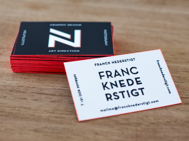 Personal Branding Business Card Graphic Design Stationery Cards Edge